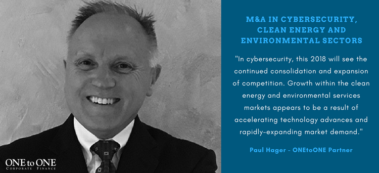 Paul Hager: M&A opportunities in cybersecurity, clean energy and environmental sectors