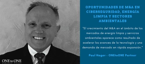 Oportunidades de M&A en ciberseguridad, energía limpia y sectores ambientales