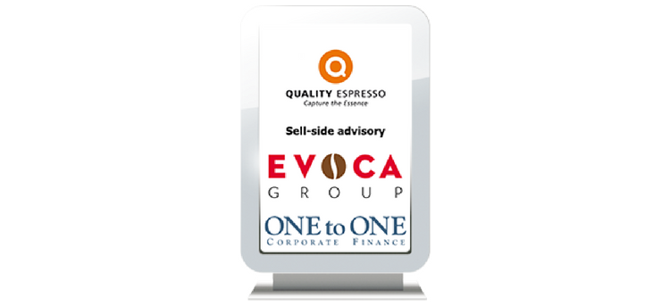 Quality Espresso acquired by EVOCA: ONEtoONE advised the M&A deal