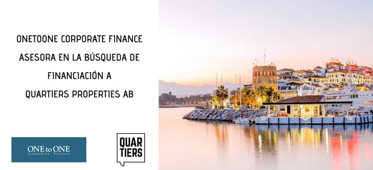 Quartiers Properties AB logra financiación para sus proyectos en la Costa del Sol