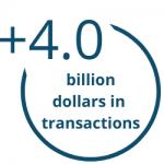 4 BILLION DOLLARS IN TRANSACTIONS